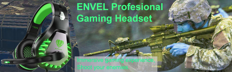 ENVEL gaming headset for PS4/PS5 Xbox One S X PC