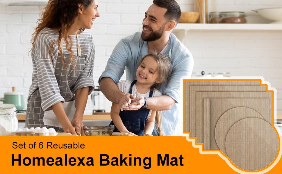 Homealexa Tapis de cuisson en silicone