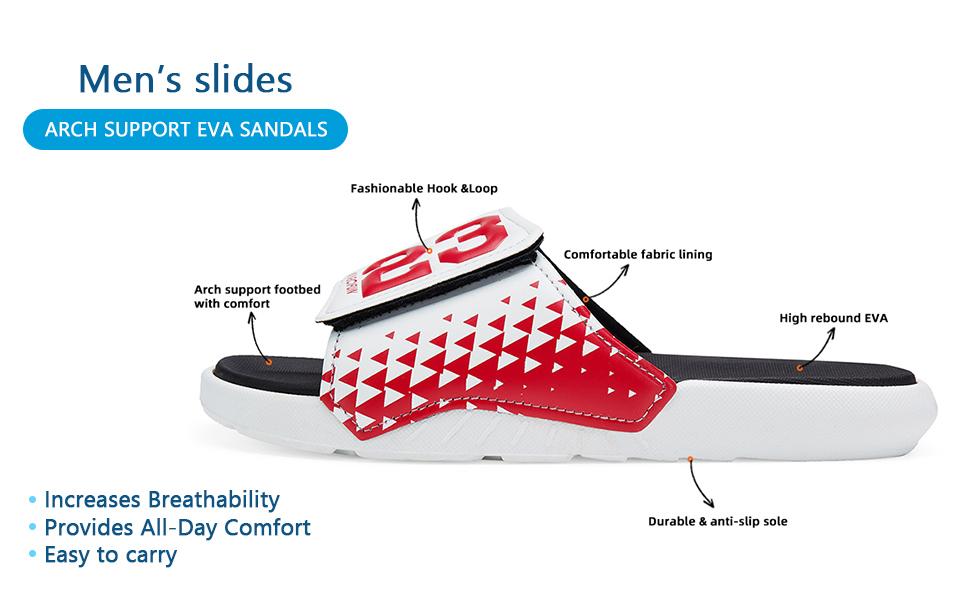men's slides