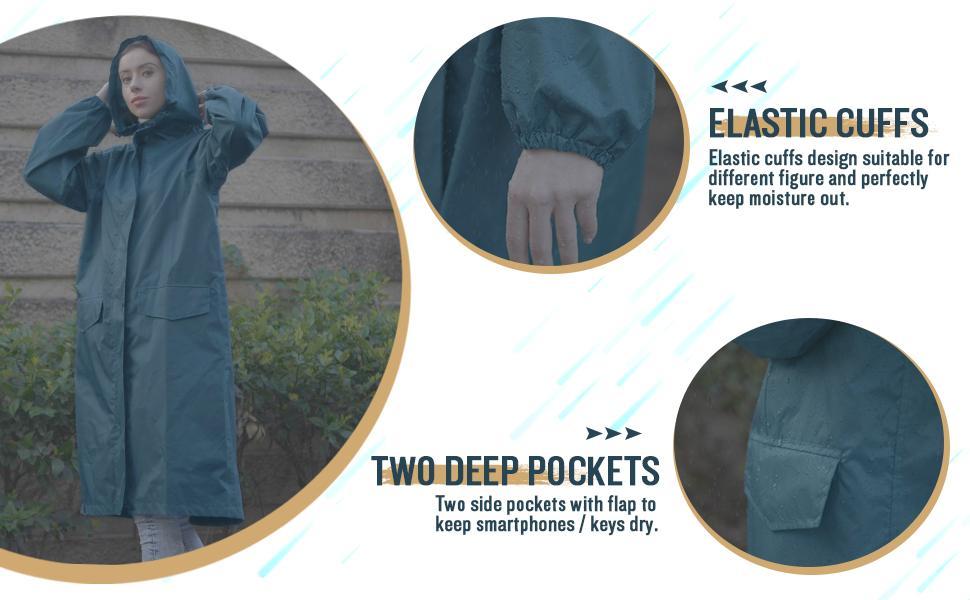 women long rain jacket coat for Spring Summer