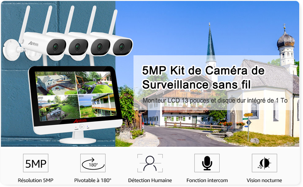 kit de camera de surveillance