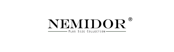 Nemidor Womens Plus Size Casual Elastic Waist Pleated Long Boho Swing Skirts