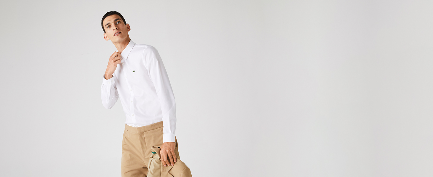 Lacoste men's white dress shirt
