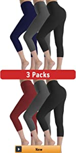 High Waisted Leggings for Women 3 Pack Soft yoga Pants for Running Workout