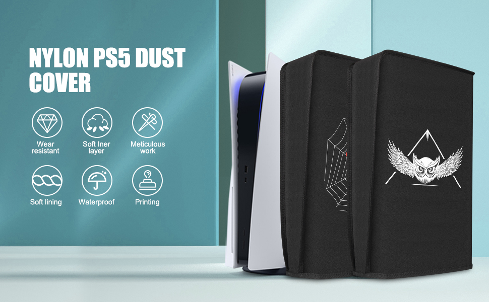 PS5 dust cover owl and spider