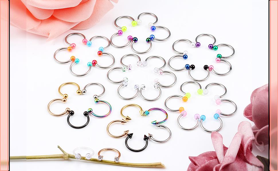 Nose Septum jewelry rings piercing hoop