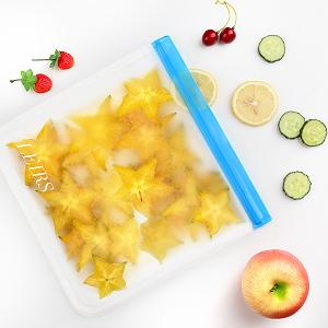 Dishwasher Safe Reusable Storage Bags food silicone Freezer gallon bags Sandwich Bags