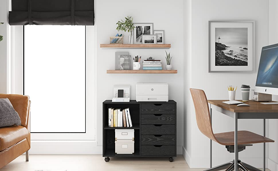 Llack Lateral File Cabinet
