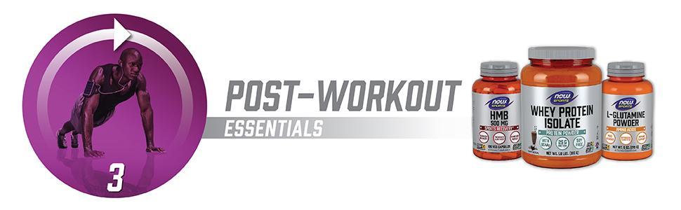 Post workout essentials whey isolate hmb glutamine powder
