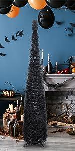 Joy-Leo 5 Feet Balck Halloween Christmas Tree