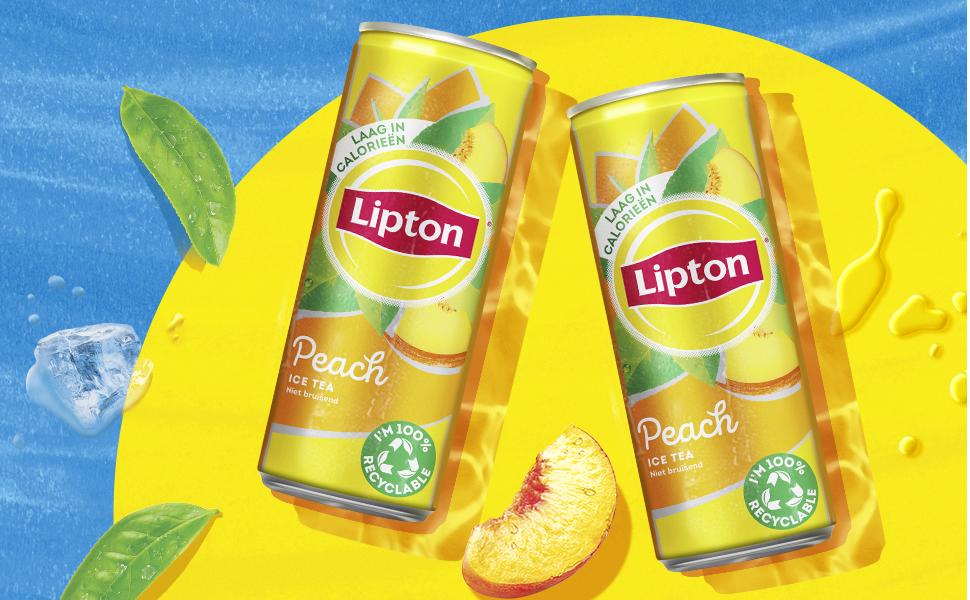 Blikje Lipton Ice Tea Peach