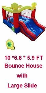 10 * 6.6 * 5.9 FT Jumper House with Large slide