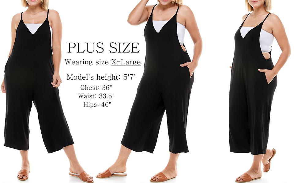 plus size Loose fit Capri Jumpsuits for women