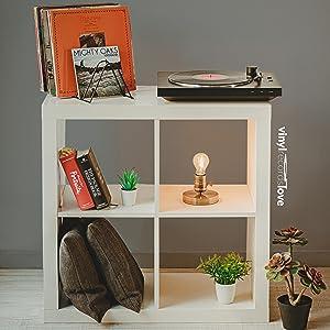 Soporte para discos de vinilo para el hogar y la oficina. Almacenamiento de discos de vinilo.