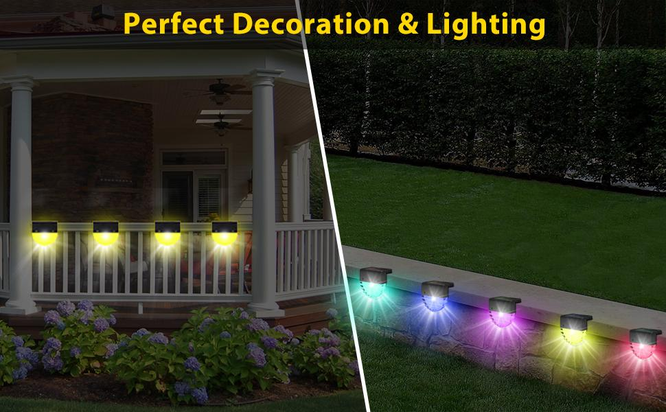 Outdoor Solar Energy Step Lamp