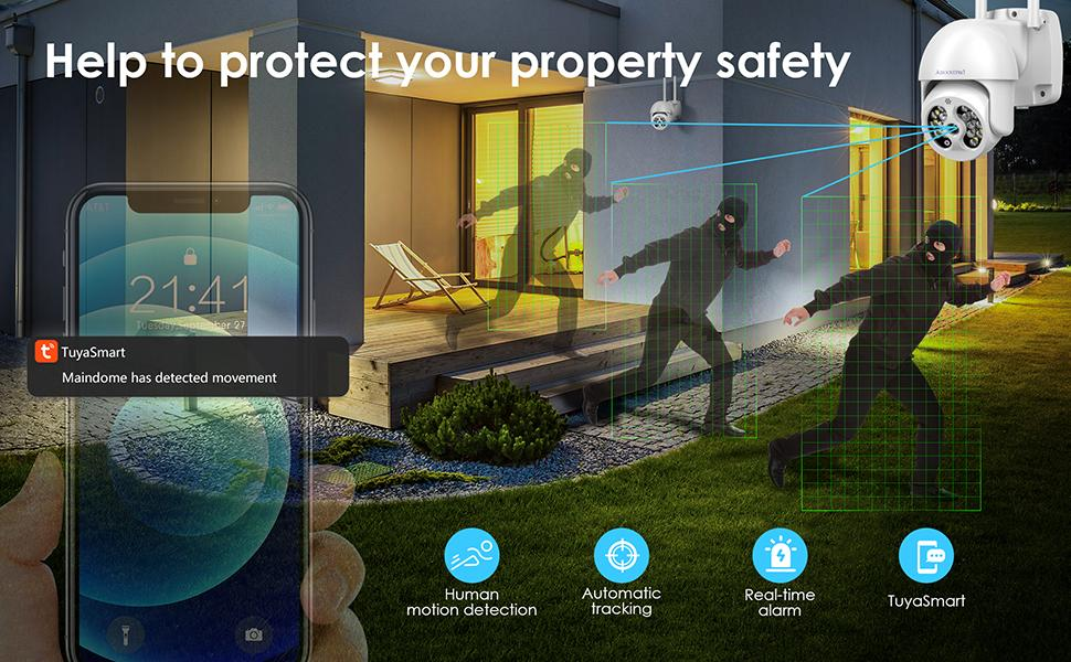 security cameras indoor/outdoor wireless with night vision and audio