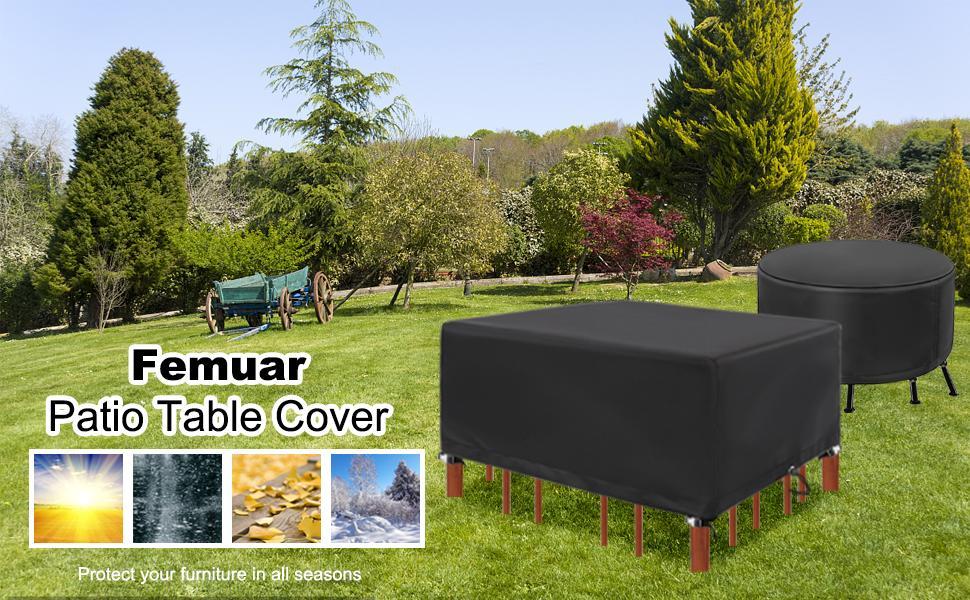Femuar Waterproof Patio Furniture Set Cover