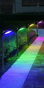 12 LED Colorize Solar Garden Lights
