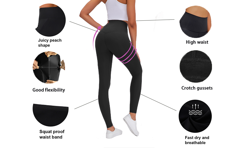 high waist yoga pants feature