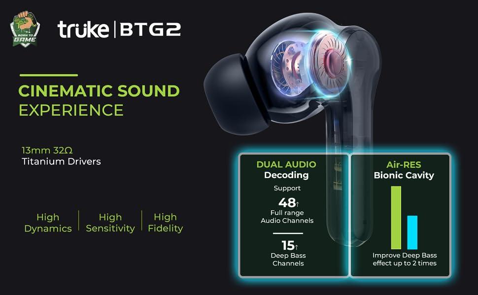 Truke buds BTG 2 Cinematic Sound Experience