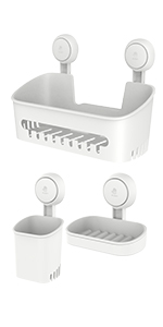 shower caddy suction
