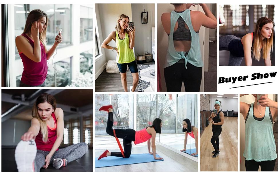 Loose fit Workout Tank Tops for Women xs Sleeveless Muscle Tank plus size 3x Racerback sports bra