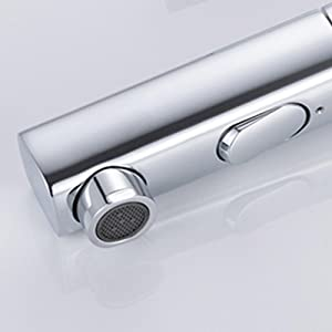 Bathroom Faucet Fountain Single Handle Chrome Bathroom Sink Faucet with Pull Out Sprayer