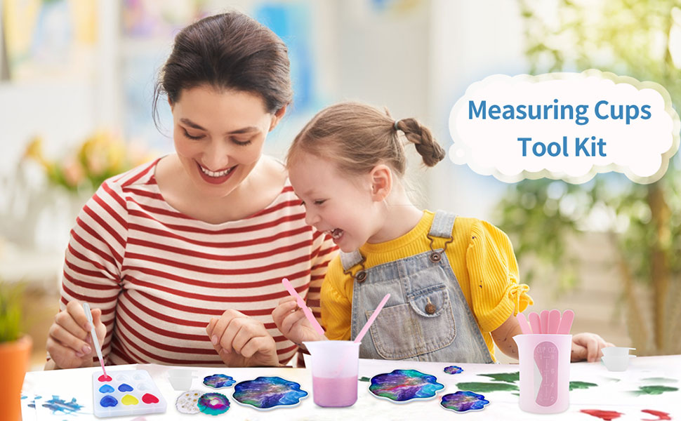 silicone measuring cups for resin