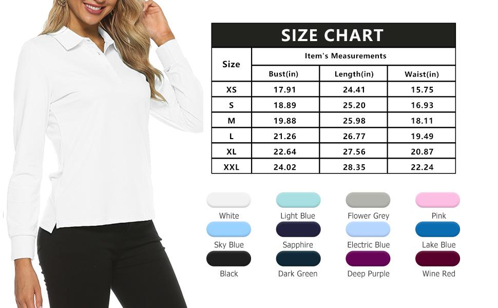 UPF 50+ Long Sleeve Shirt Women Golf Sun Protection Light Jacket Running Shirts with Zip Pockets