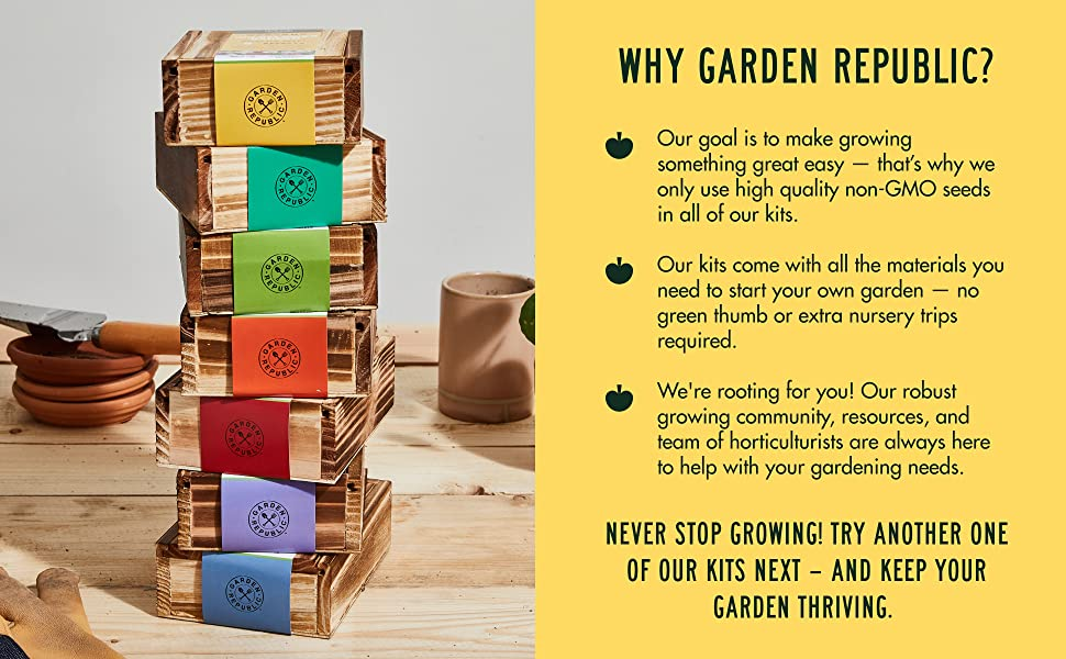 Our goal is to make growing something great easy - only use high quality non-GMO seeds
