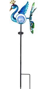 peacock wind spinner