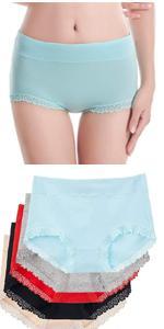 Women's Cotton Underwear lace Trim