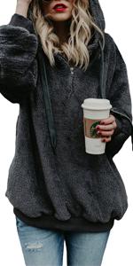 B07JGRZMPR  Fuzzy Fleece Sweatshirt