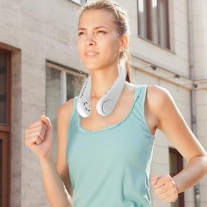 Wearable Personal Fan, Leafless, Rechargeable, Headphone Design