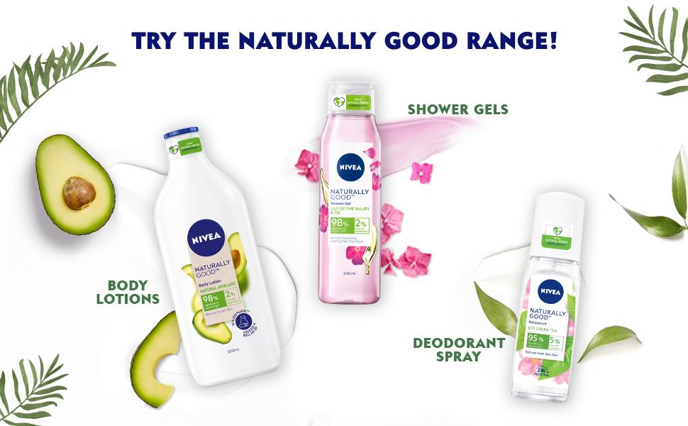 Nivea,Women,Shower Gel, Body Wash,Nourishment, Natural Ingredients
