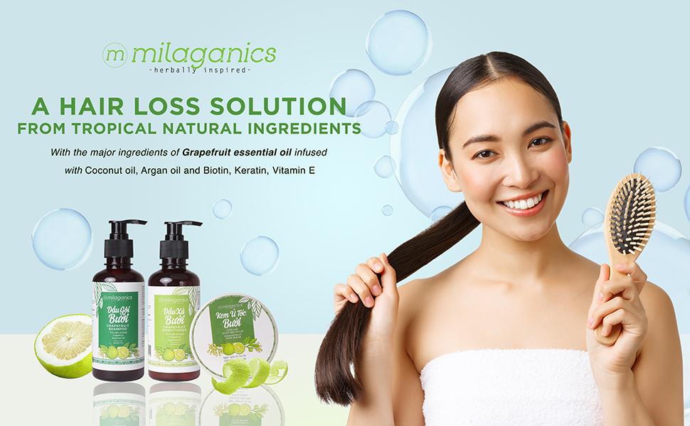 Milaganics Grapefruit Shampoo and Conditioner