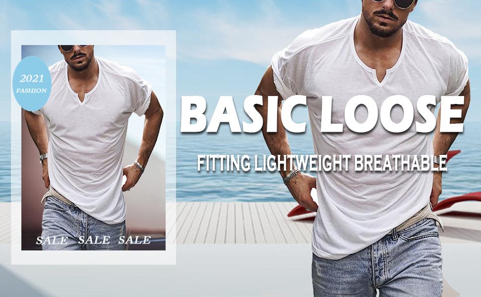 MENS BASIC LOOSE T SHIRTS