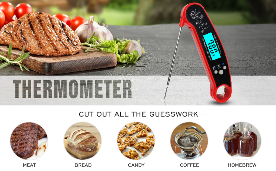Instant Read Meat Thermometer - Eliminate the guess work