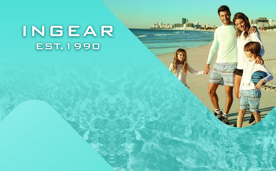 INGEAR Sun performance rash guard mens shirt