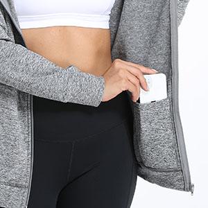 zip up hoodies with inside pockets women