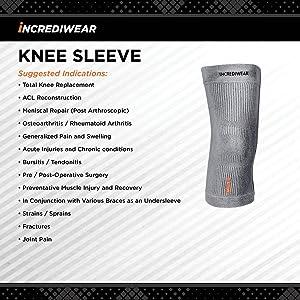 Knee sleeves indications