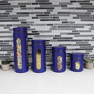 tea coffee sugar set, kitchen container set, tea coffee canisters, kitchen jars, kitchen jar set