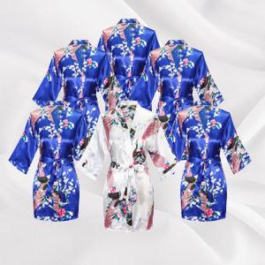 bridal robes royal blue