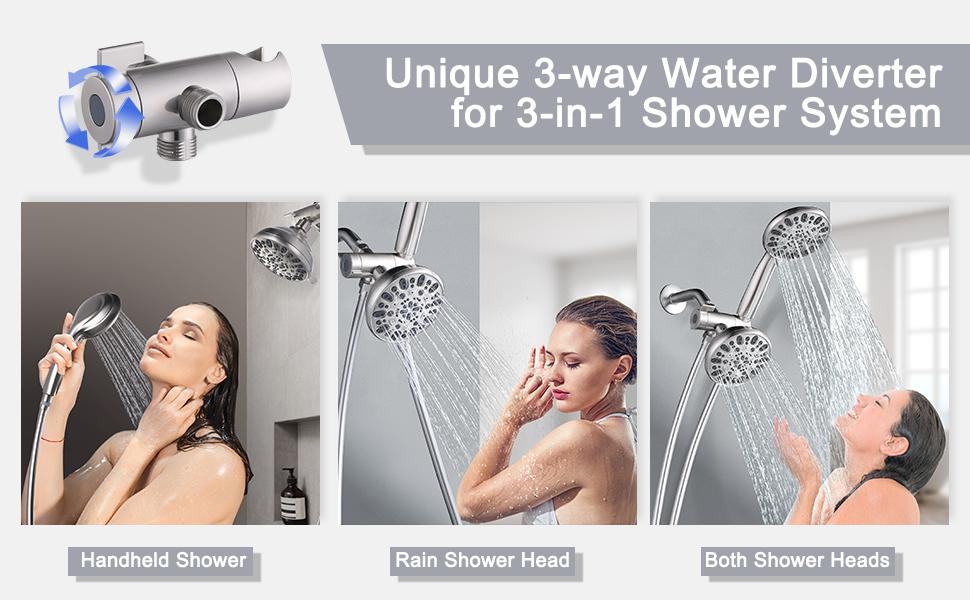 shower head brushd nickel