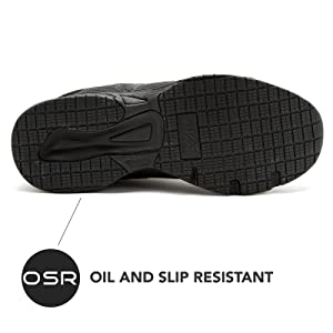 Oil Slip Resistant Shoe Sneaker Black