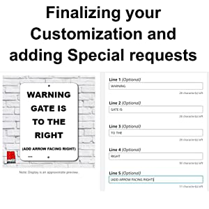 Finalizing your sign