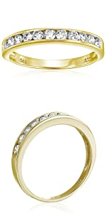 Vir Jewels 3/4 cttw Classic Diamond Wedding Band in 14K Yellow Gold Channel Set