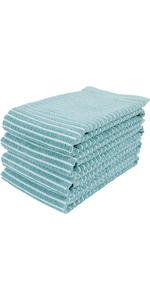 terry cloth cotton dish towel set of 4 plush absorbent machine washable