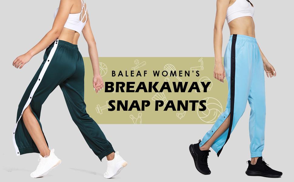 breakaway snap pants women