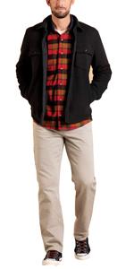 mens sherpa lined waffle fleece shirt jacket